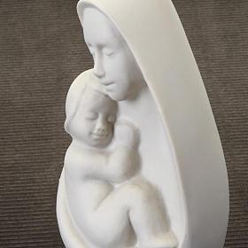 Busto Virgem com Menino Francesco Pinton 13 cm s3