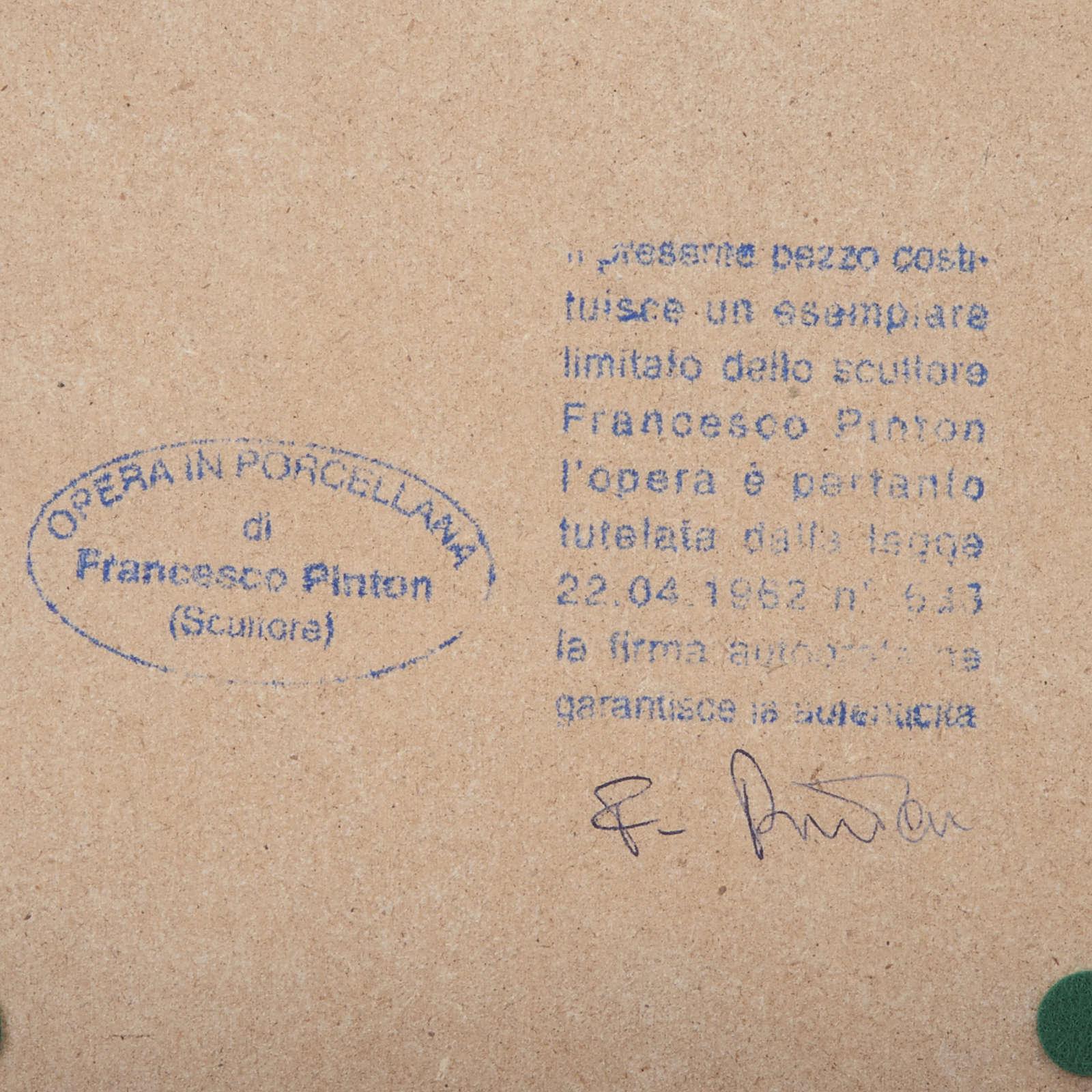 Virgem Maria mãos juntas 33 cm Francesco Pinton 4