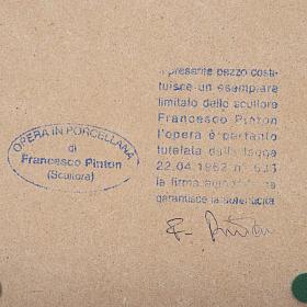 Virgem Maria mãos juntas 33 cm Francesco Pinton s6