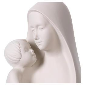 Óvalo Virgen con Niño sobre base de madera Pinton 32 cm s2