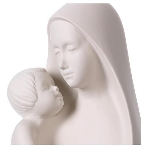 Óvalo Virgen con Niño sobre base de madera Pinton 32 cm 2