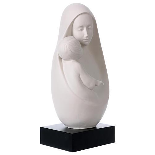 Óvalo Virgen con Niño sobre base de madera Pinton 32 cm 4