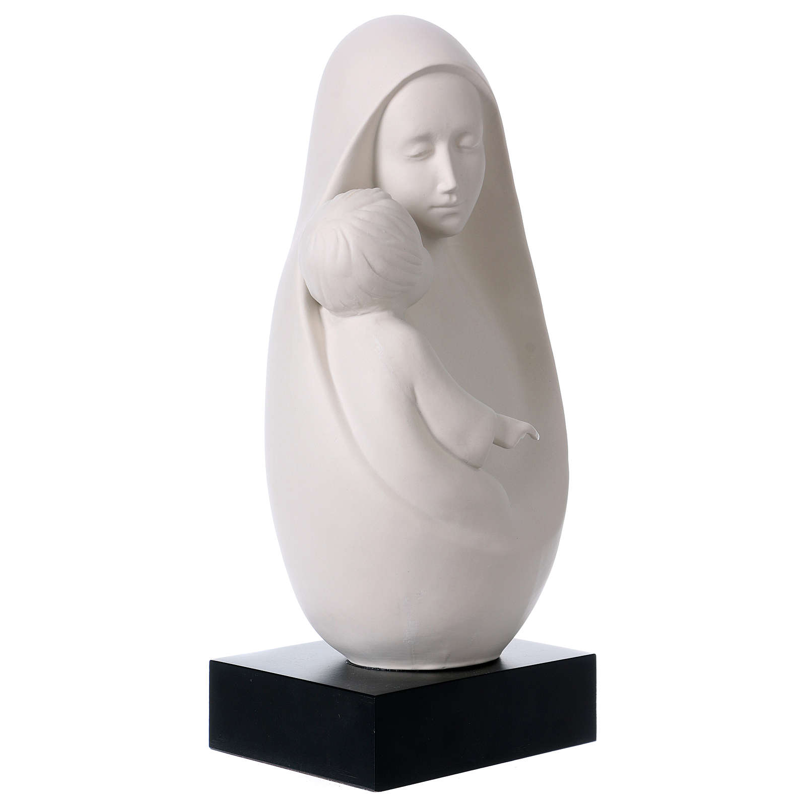 Mary with Baby Jesus oval Pinton 32 cm 4