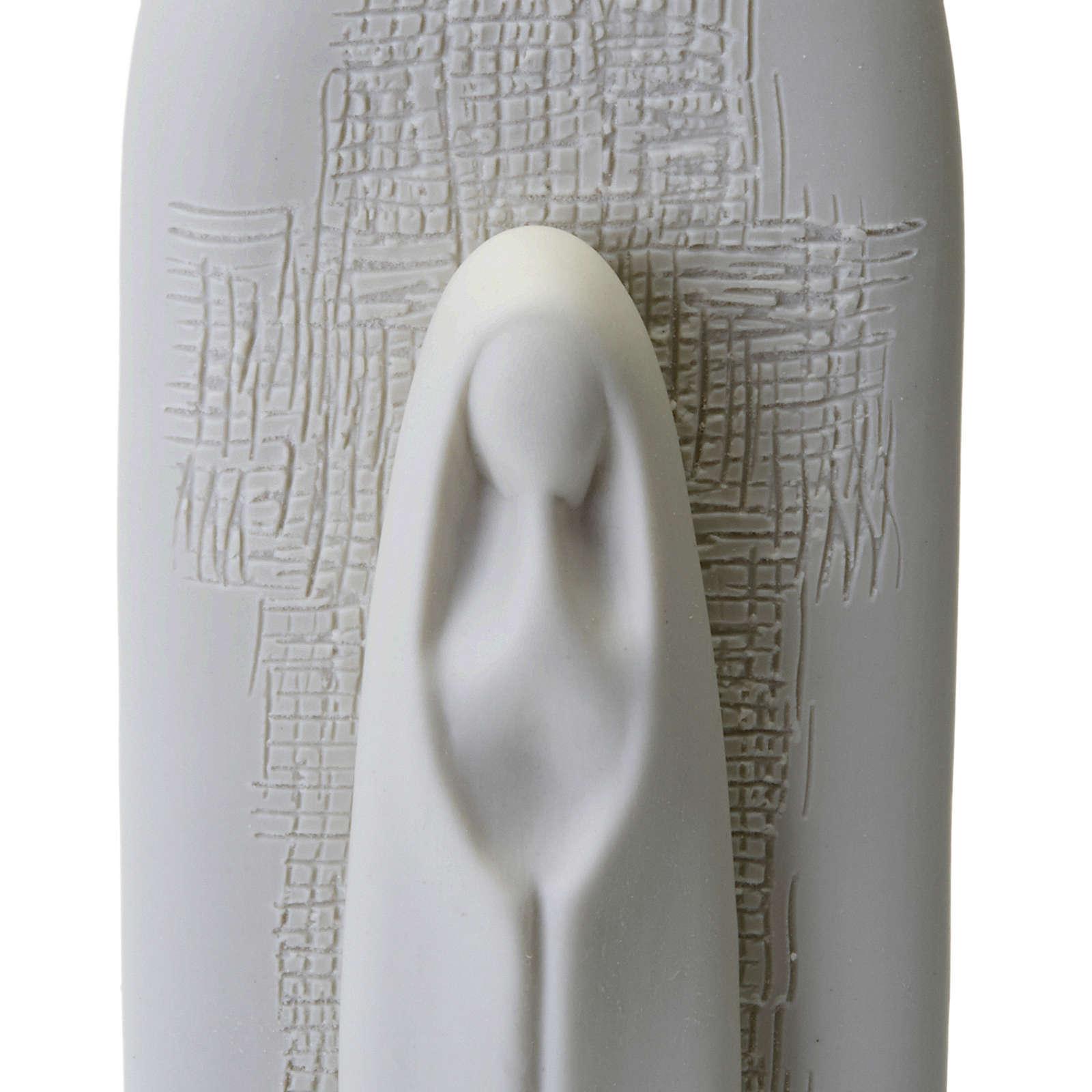 Pia de água benta com Virgem Maria 27 cm 4