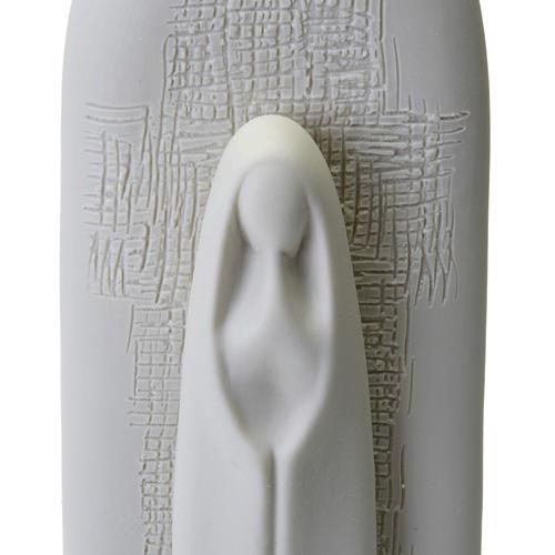 Pia de água benta com Virgem Maria 27 cm 2