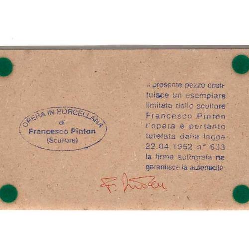 Sainte Famille, nativité, stylisée,comète Francesco Pinton 11 cm 3
