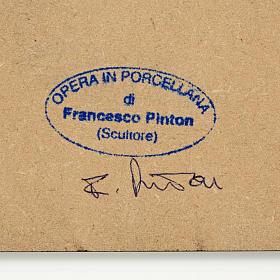 Pesebre estilizado con cabaña Francesco Pinton 10 cm s2
