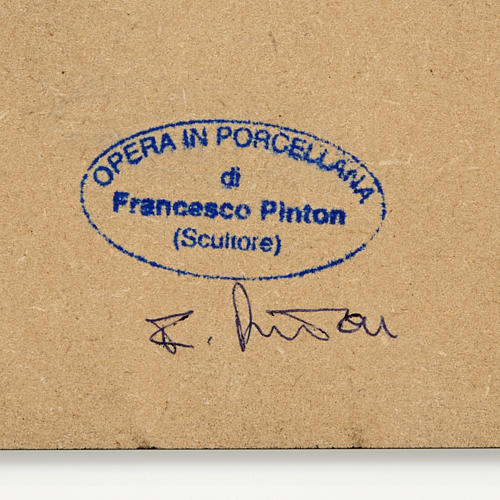 Natività stilizzata capanna Francesco Pinton 10 cm 2