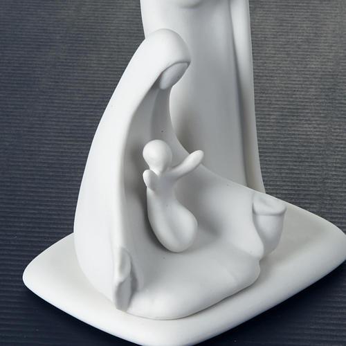 Stilisierte Krippe mit Füßchen Francesco Pinton 16 cm 3