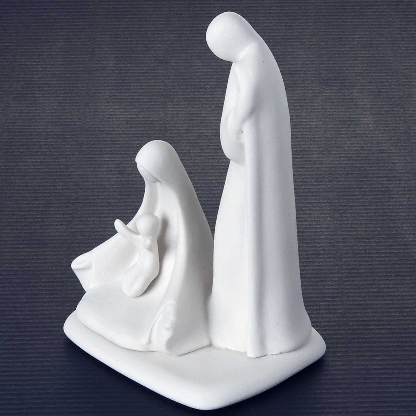 Sainte Famille, nativité, stylisée,debout Pinton 16 cm 3