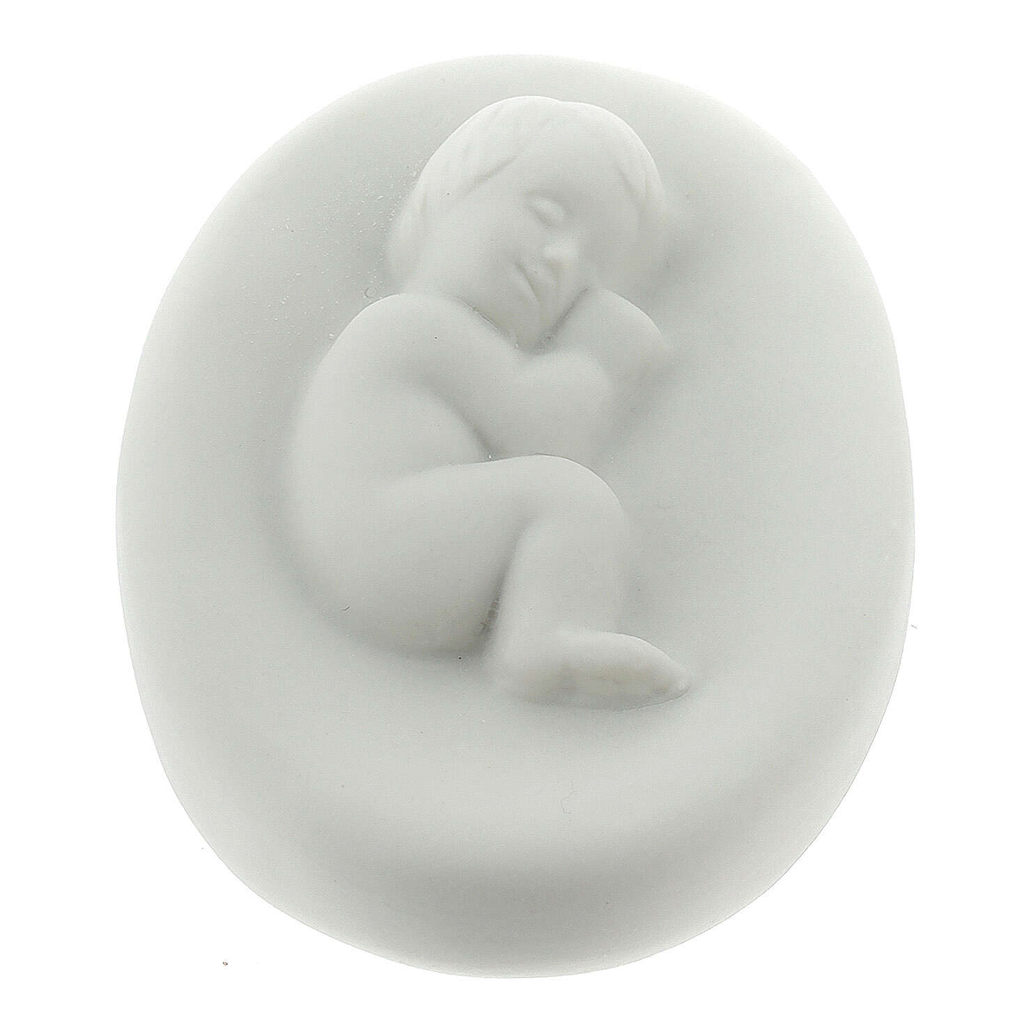 Small Holy Family in porcelain, 15 cm Pinton 3