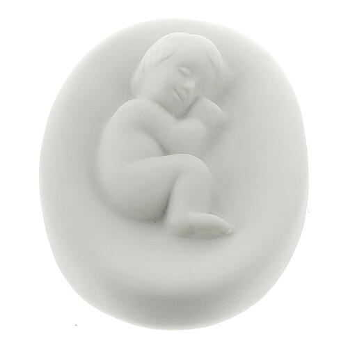 Small Holy Family in porcelain, 15 cm Pinton 2