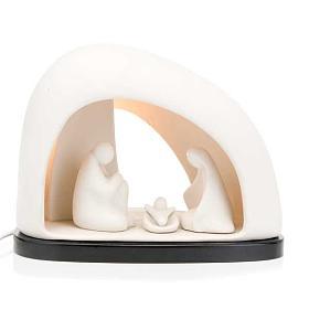 Pesebre iluminado Francesco Pinton 21 cm s1