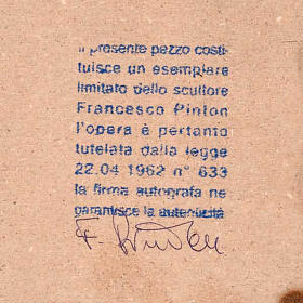 Natività tonda porcellana Francesco Pinton 12-17-22 cm s2
