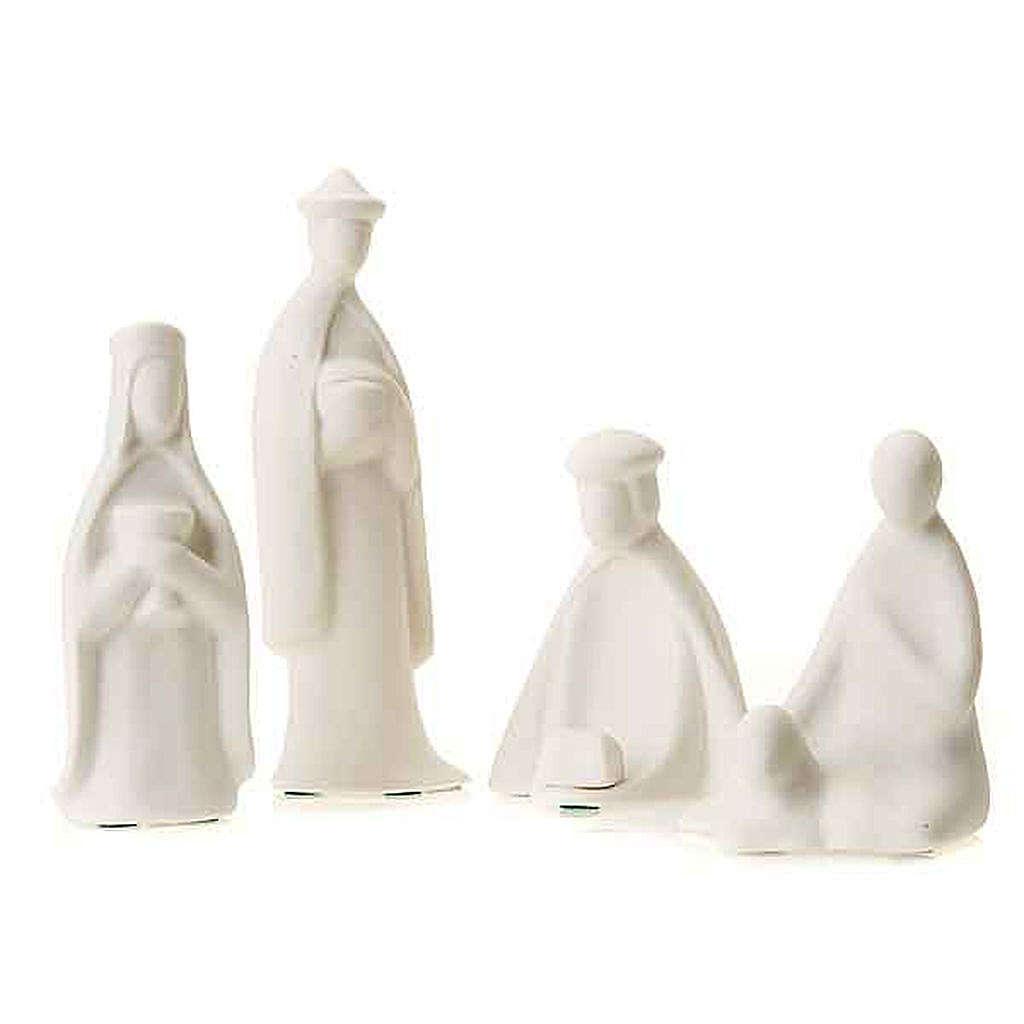 Três reis e pastor miniaturas 16 cm Francesco Pinton 4