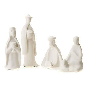 Três reis e pastor miniaturas 16 cm Francesco Pinton s1