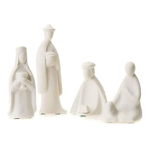 Três reis e pastor miniaturas 16 cm Francesco Pinton 1