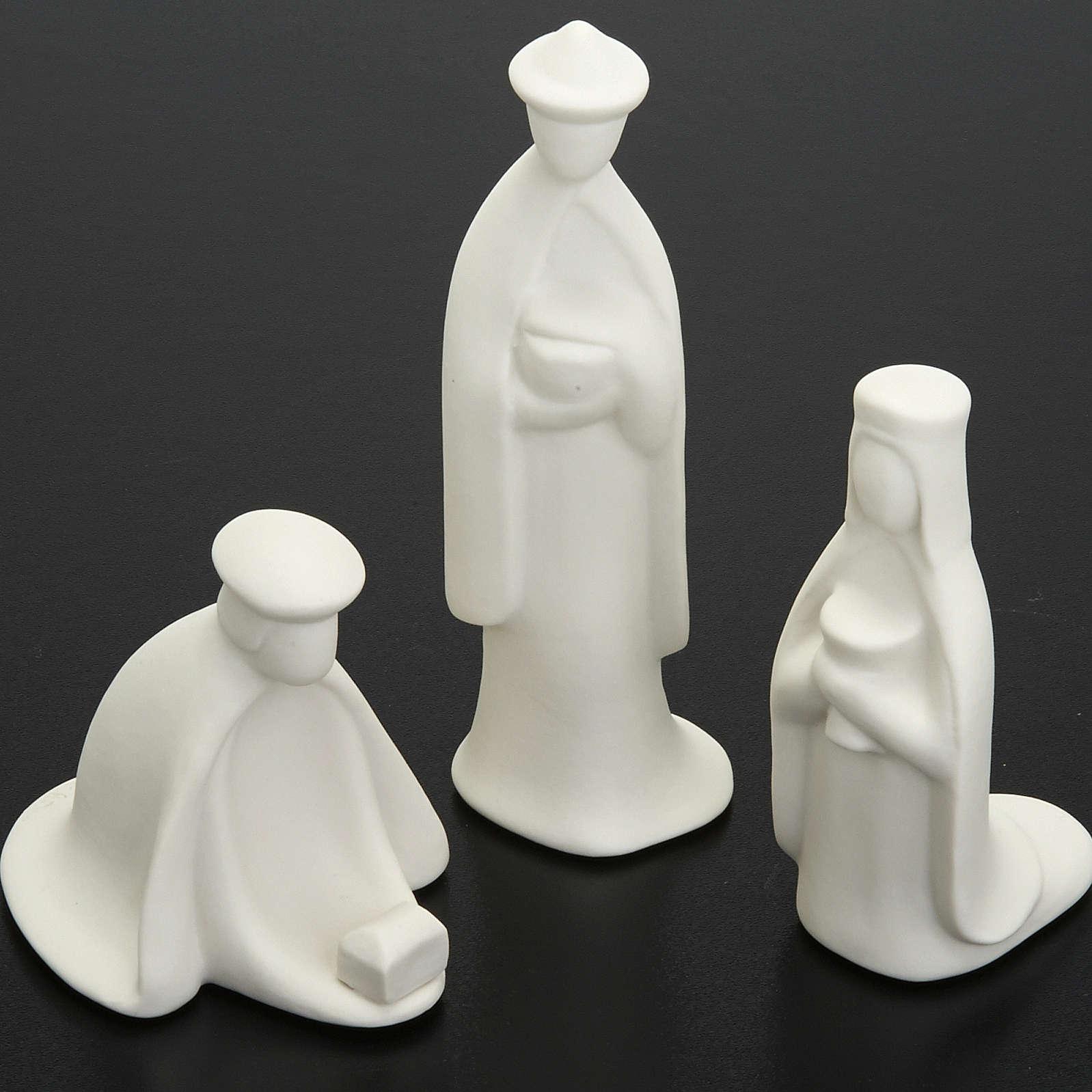 Crèche Noel complète porcelaine blanche mignon 16 cm Pinton 4