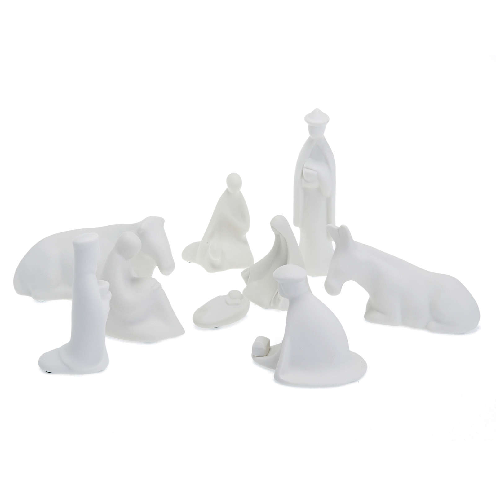 Presépio porcelana miniatura completo 16 cm 4