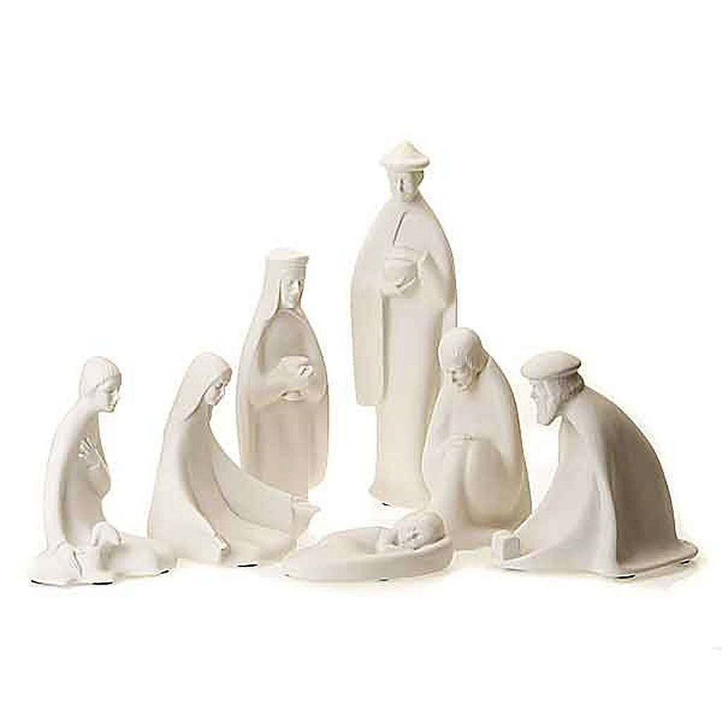Nativity set white porcelain 40-55 cm Pinton 4