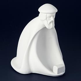 Nativity set white porcelain 40-55 cm Pinton s2