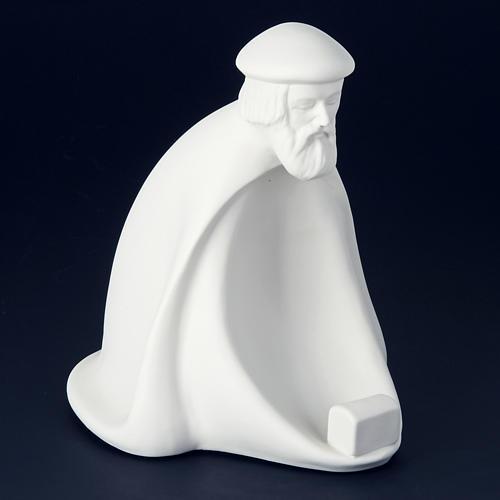 Nativity set white porcelain 40-55 cm Pinton 2