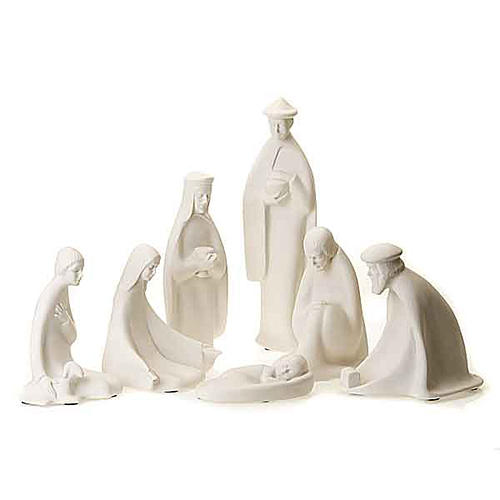 Nativity set white porcelain 40-55 cm Pinton 1