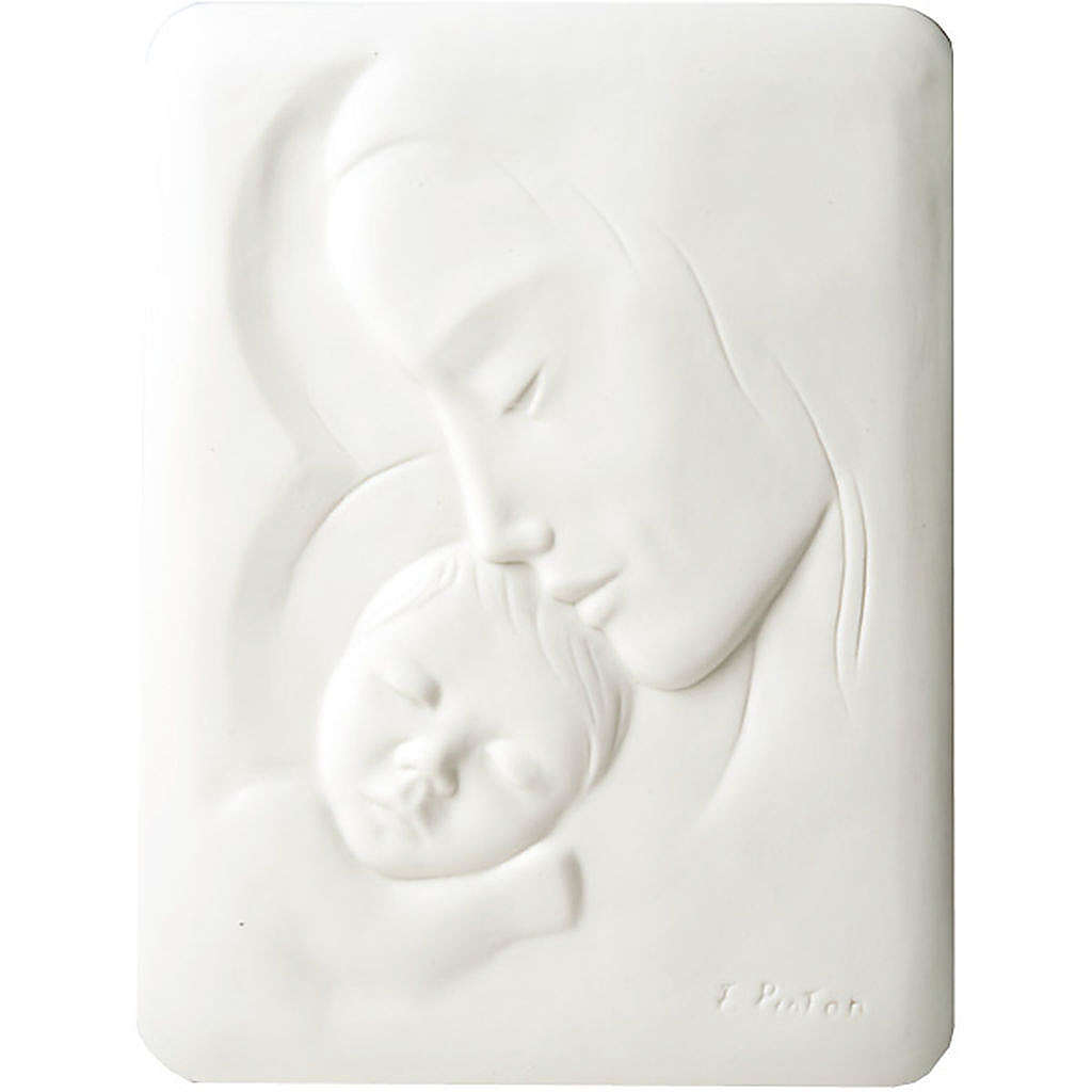 Mary with Jesus Bas Relief Francesco Pinton 30 cm 4