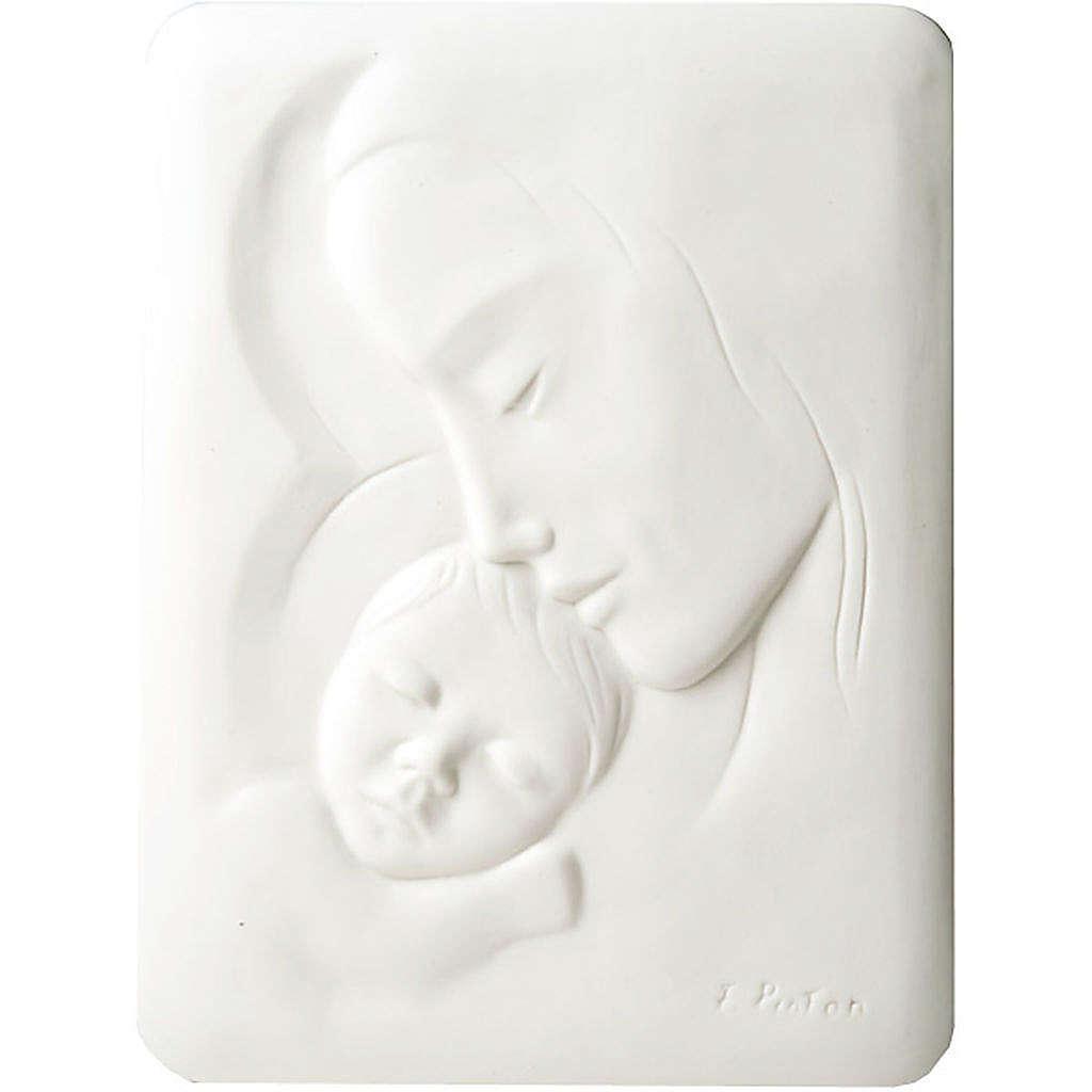 Bas-relief Vierge avec enfant Francesco Pinton 30 cm 4