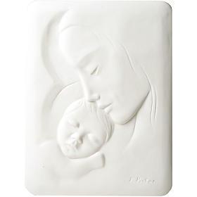 Bas-relief Vierge avec enfant Francesco Pinton 30 cm s1