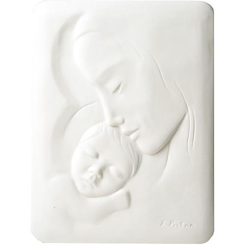 Bas-relief Vierge avec enfant Francesco Pinton 30 cm 1