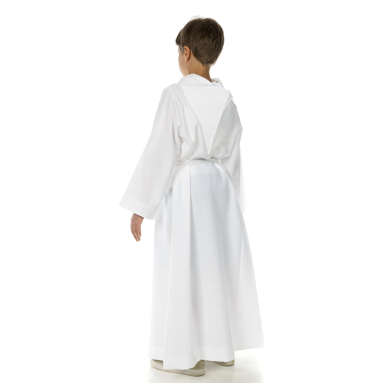 Catholic Alb with hood for first communion 4