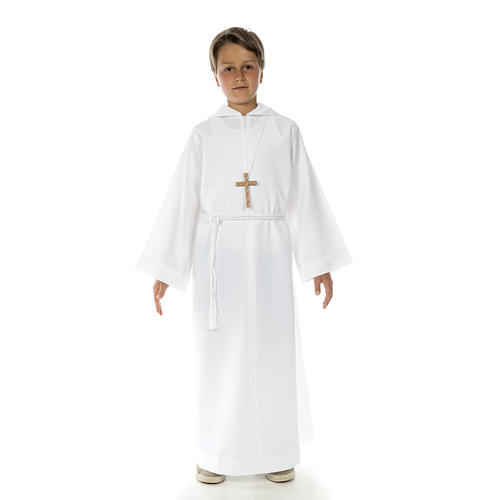 Catholic Alb with hood for first communion 7