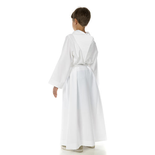 Catholic Alb with hood for first communion 9