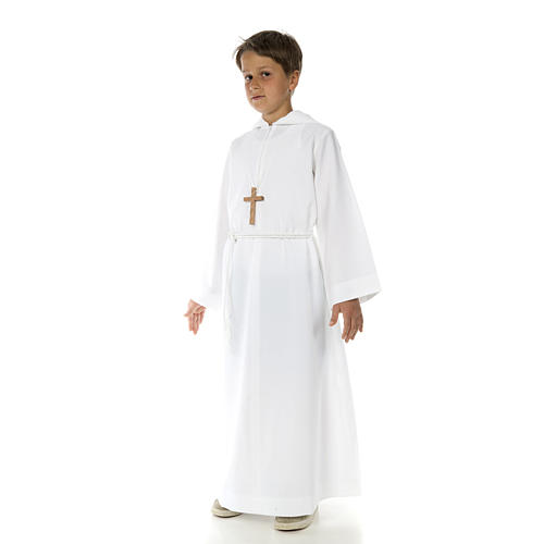 Catholic Alb with hood for first communion 2