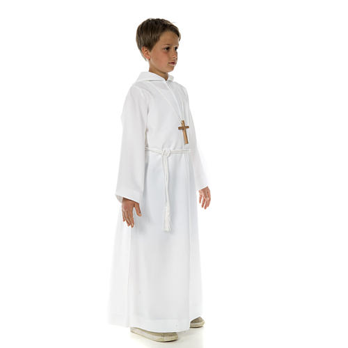 Catholic Alb with hood for first communion 3