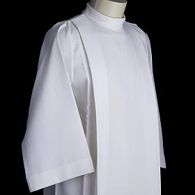 Holy Communion alb for girls with 2 pleats s3
