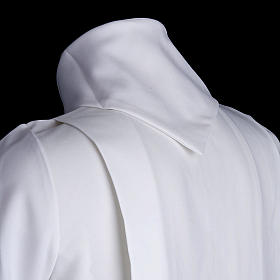 Holy Communion Alb with 2 pleats fake hood s4