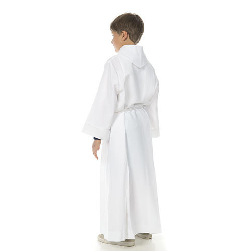 Holy Communion Alb with 2 pleats fake hood 5