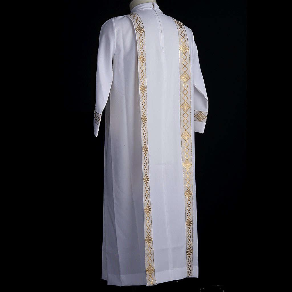 Vestido de primera comunión de niña borde dorado 4