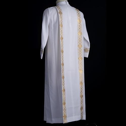 Vestido de primera comunión de niña borde dorado 6
