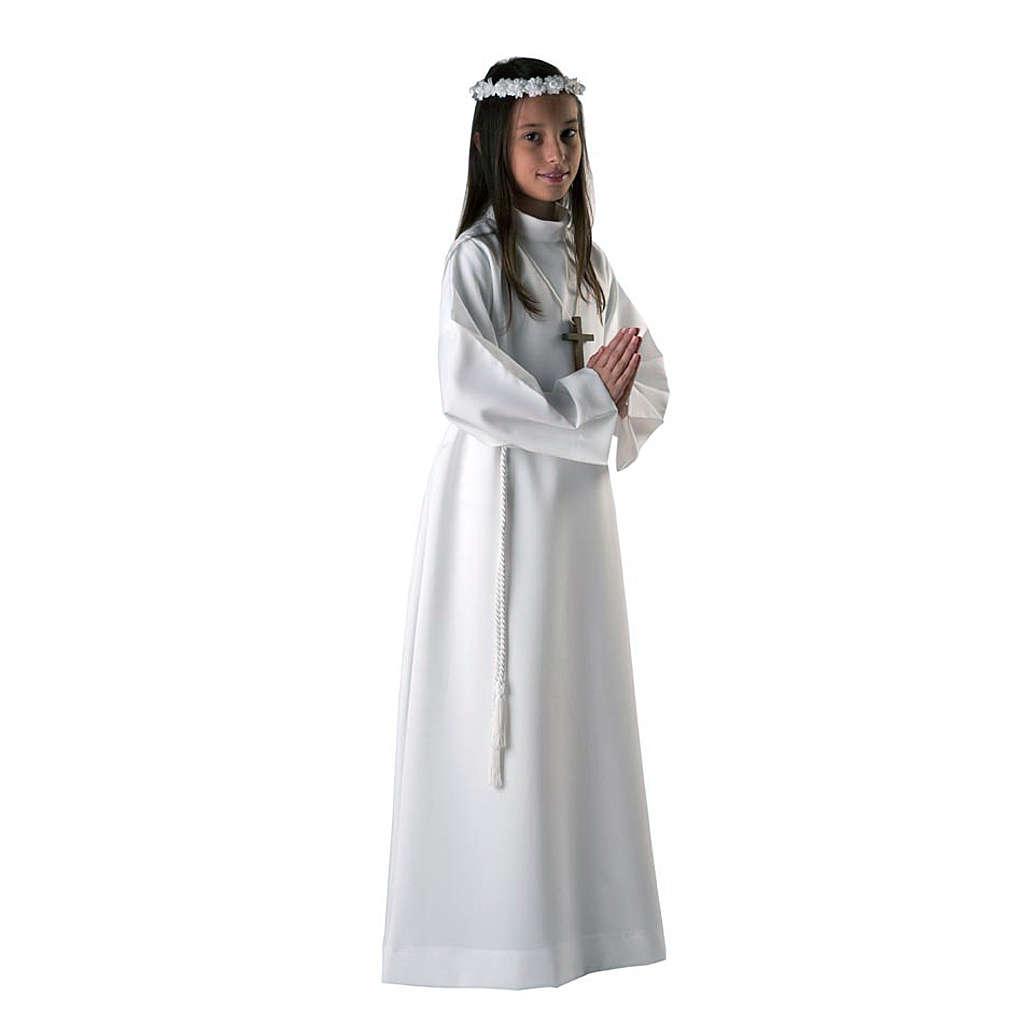 Vestido de primera comunión blanco de niña 4