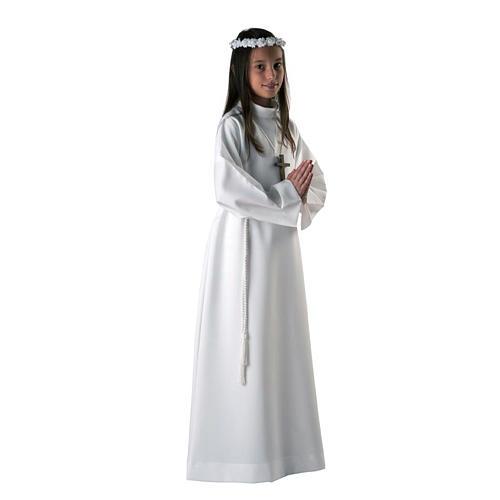 Aube communion fille blanche 1