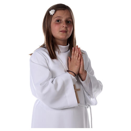 Sukienka komunijna dla dziewczynki biała 4