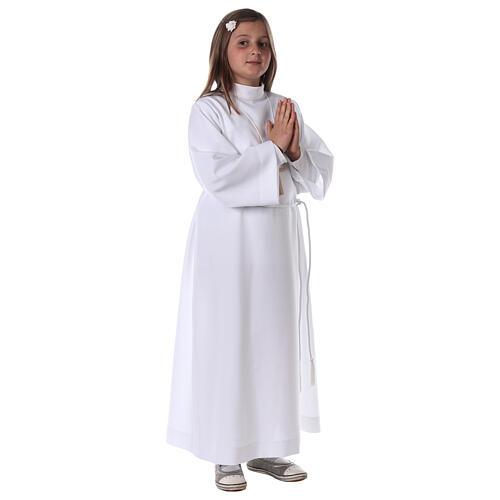 Sukienka komunijna dla dziewczynki biała 8