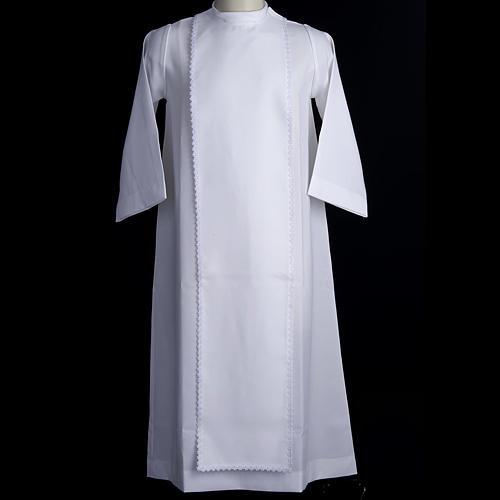Aube communion fille scapulaire dentelle 2