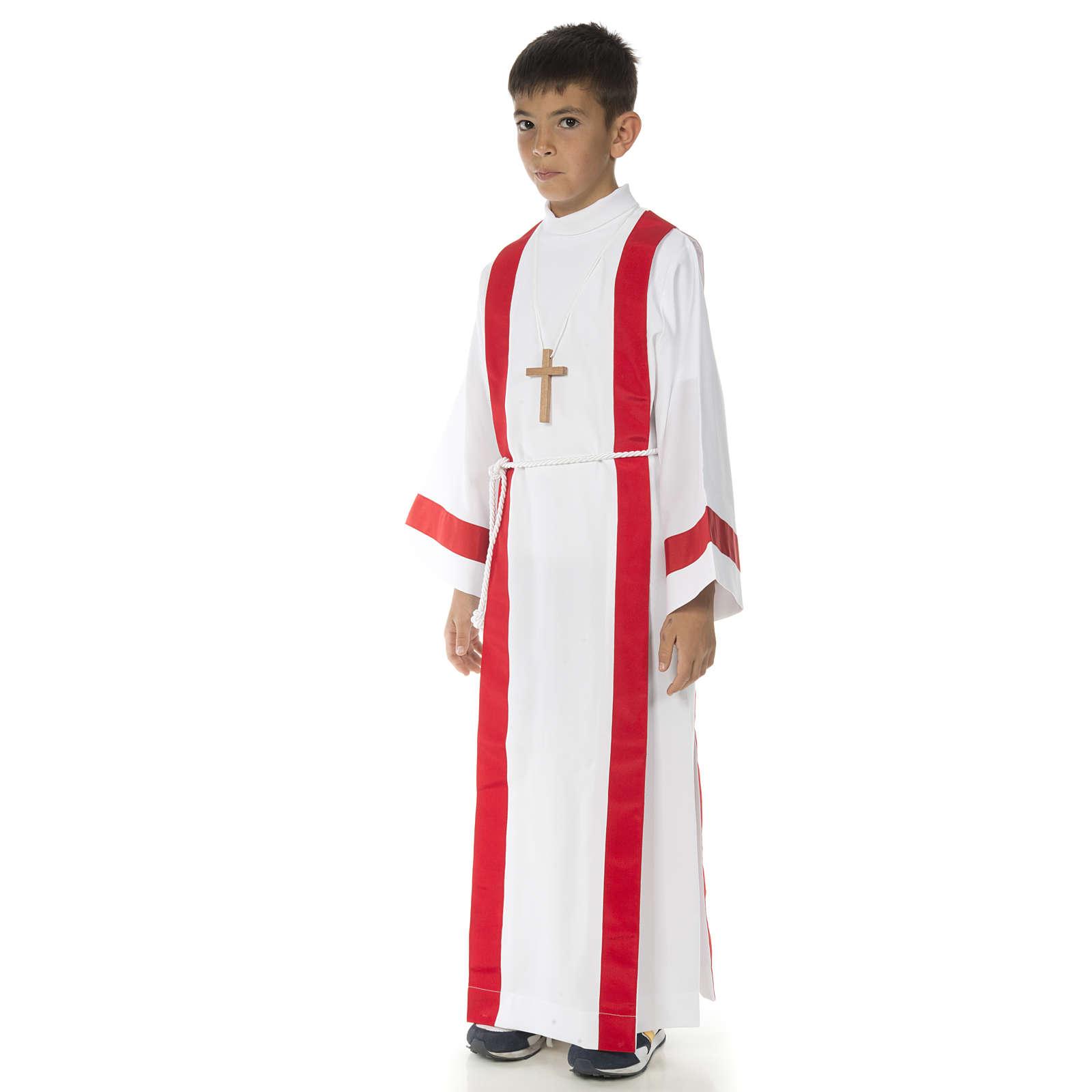 Aube communion avec bord rouge 4