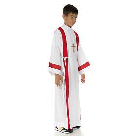 Aube communion avec bord rouge s2