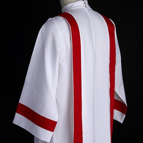 Aube communion avec bord rouge 5