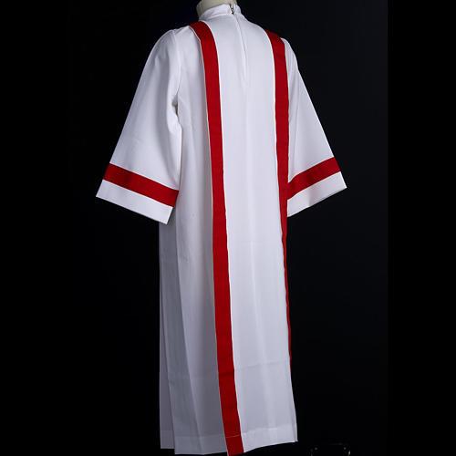 Aube communion avec bord rouge 6